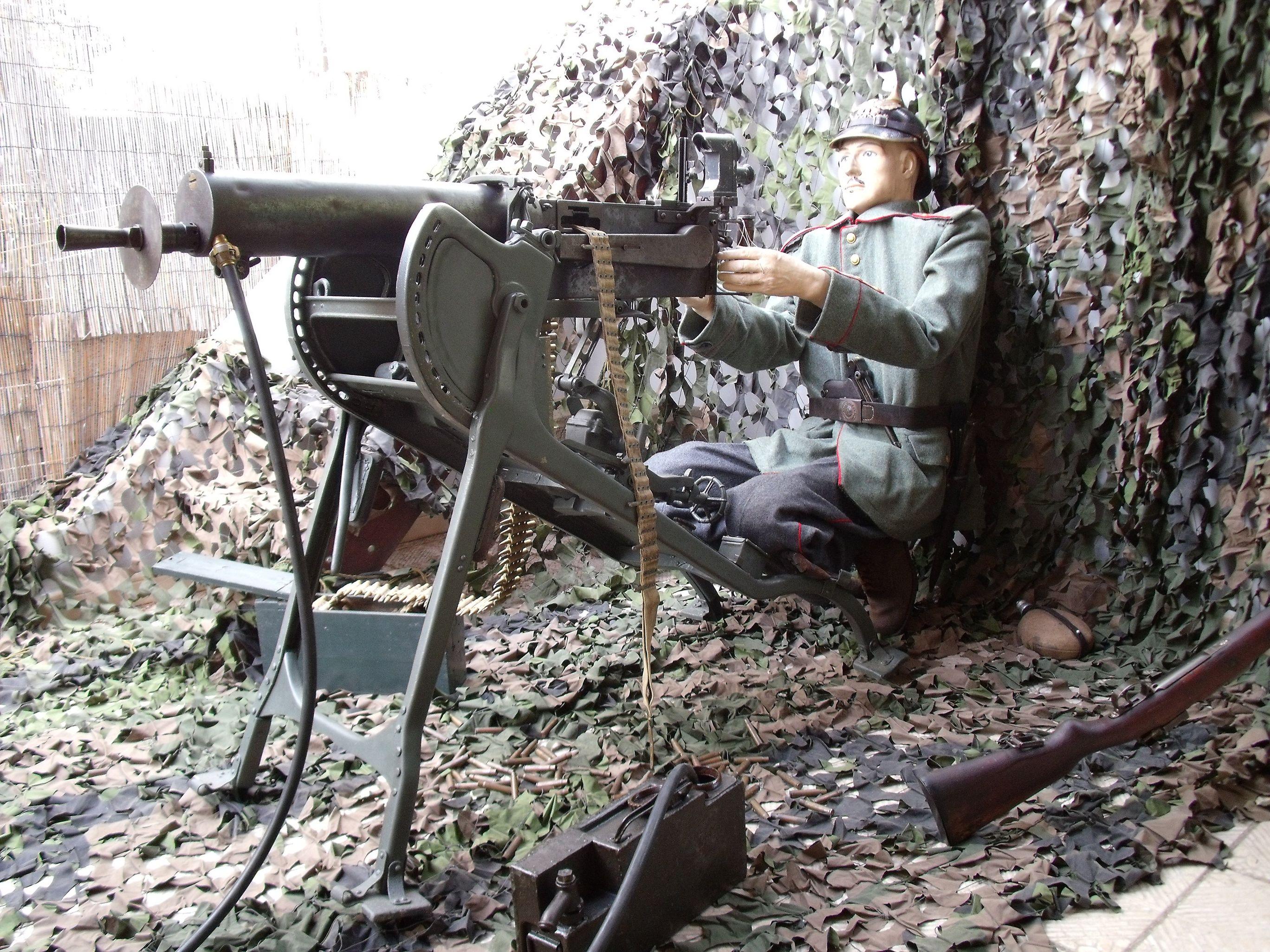 La mitrailleuse allemande de la guerre 14/18 la maxim mg08